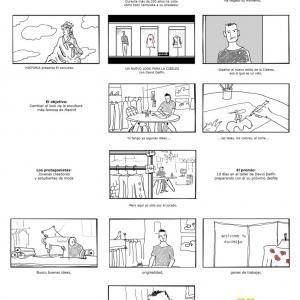 storyboard cine publicidad spot commercial shooting dibujo viñeta artwork