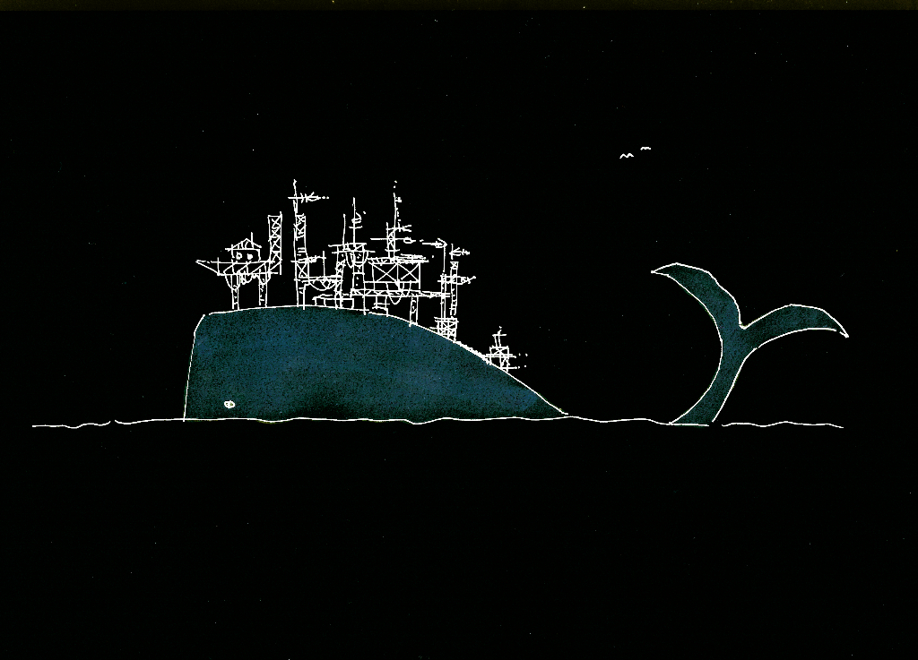 dibujo drawing minimal moby dick herman melville petróleo petrol whale ballena sea mar