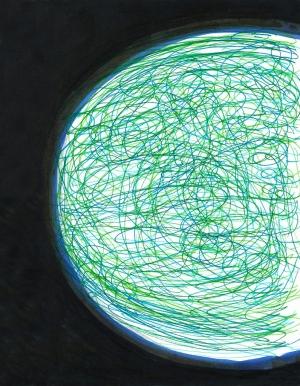 dibujo drawing minimal planeta espacio vida verde universo