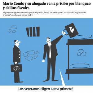 prensa metáfora visual noticia el país artículo opinión blanqueo delito fiscal abogado viñeta chiste cárcel banesto