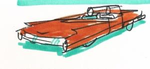 dibujo drawing minimal coche car