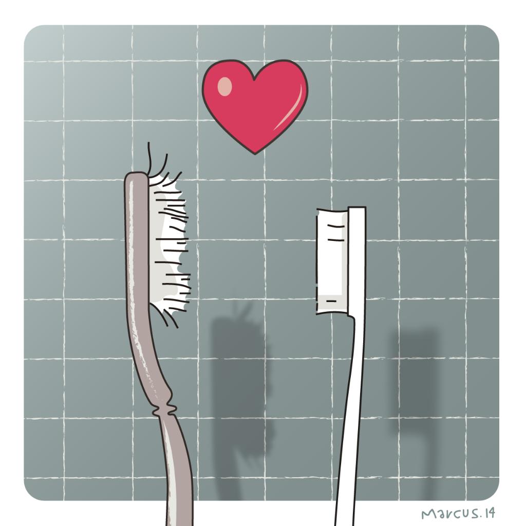 amor love cepillos dientes metáfora metonimia wc joven edad