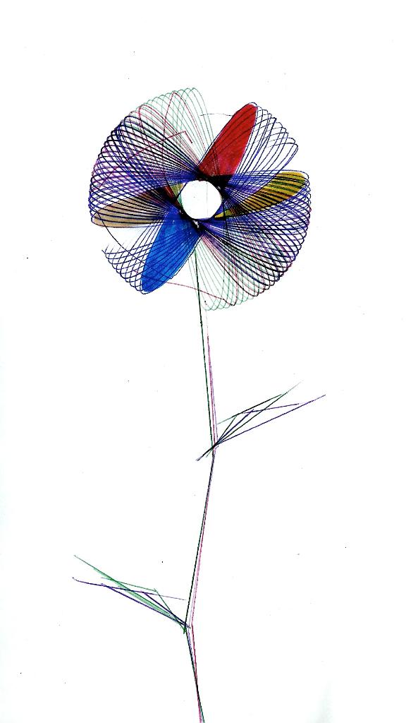 dibujo drawing minimal flower plant garden espirógrafo spirograph dandelion