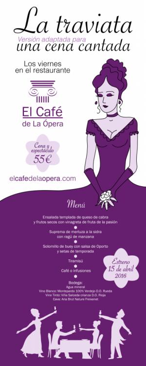 una cena cantada la traviata giuseppe verdi cartel rollup hotel opera espectáculo madrid teatro real