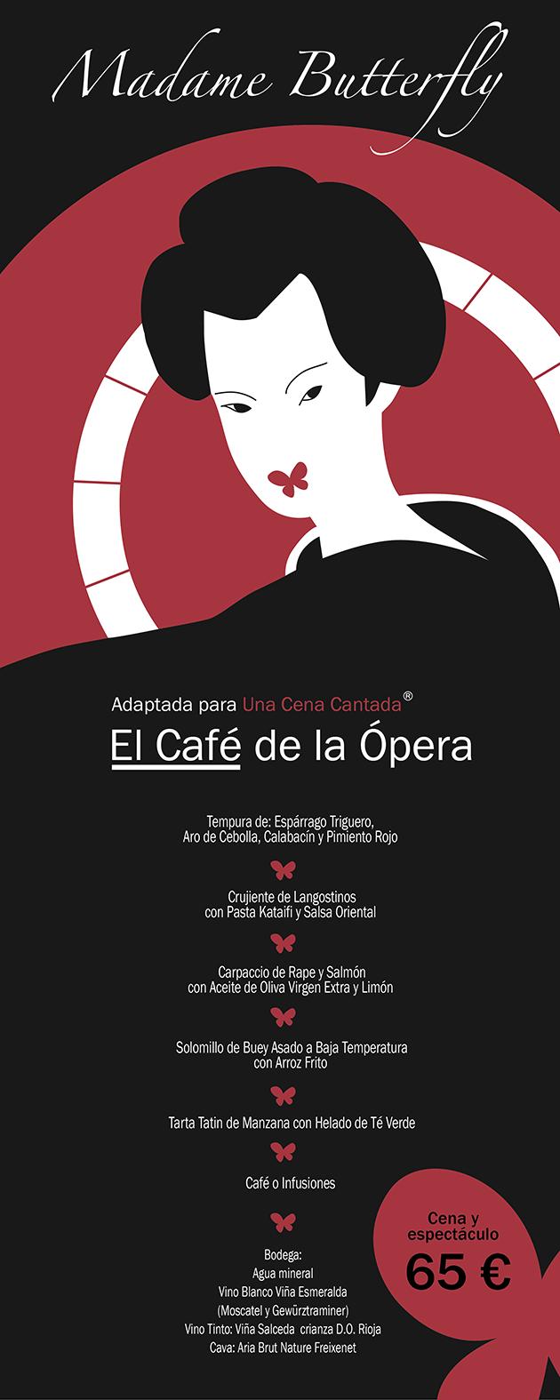 una cena cantada hotel opera teatro real madrid espectáculo cartel rollup el café