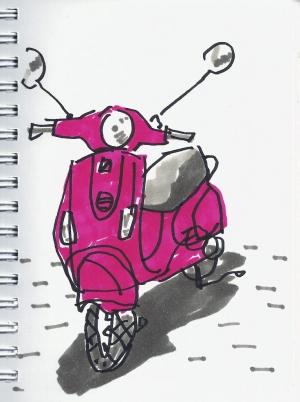 dibujo drawing minimal moto