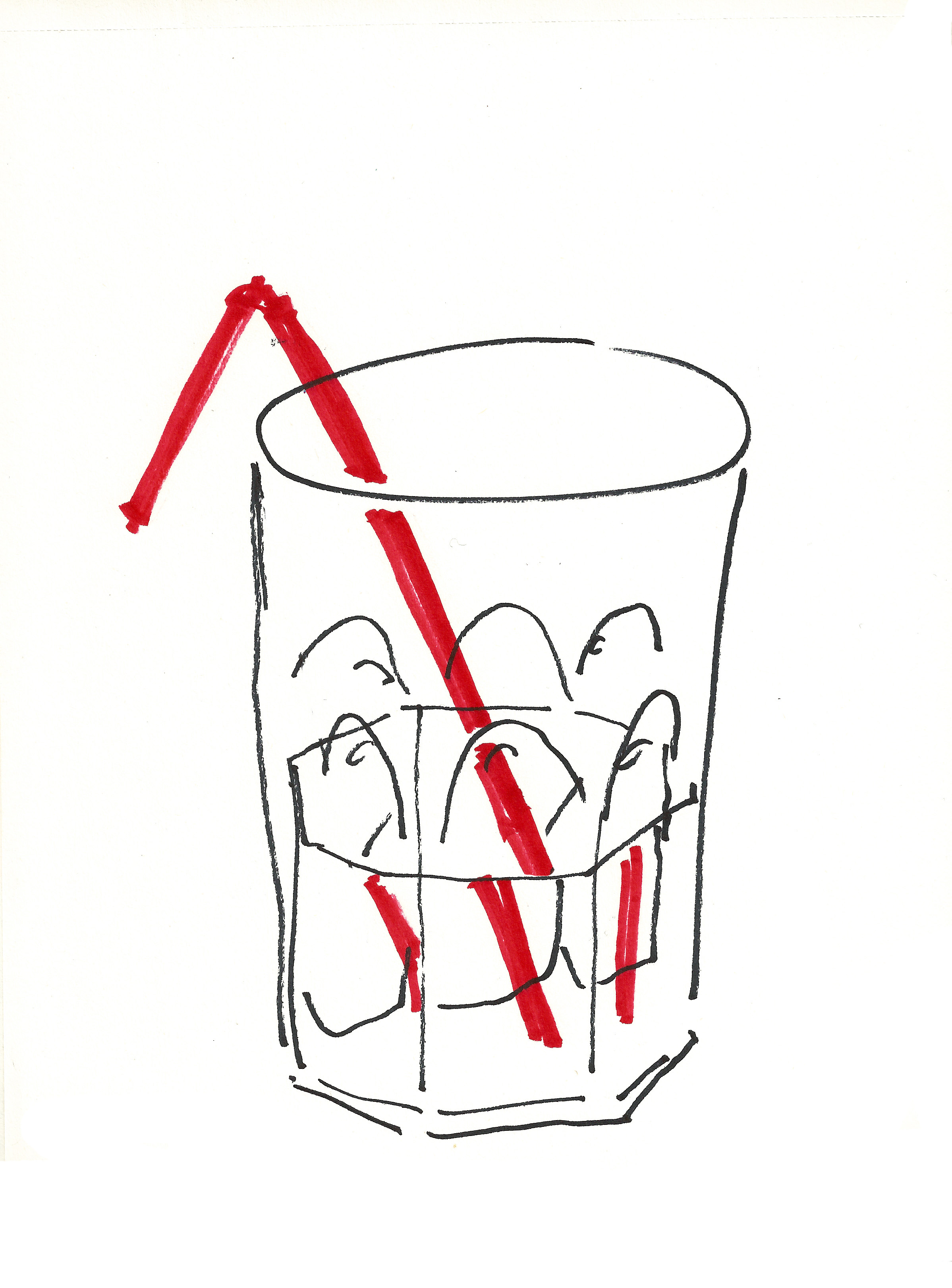 dibujo drawing minimal water pajita glass aso