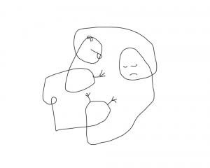 dibujo drawing minimal sleep pareja couple