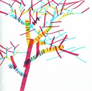 dibujo drawing minimal árbol tree RGB
