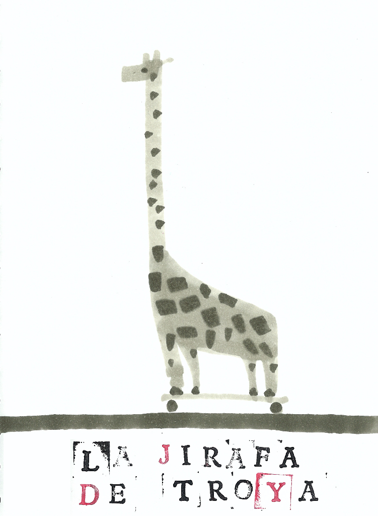 dibujo drawing minimal giraffe