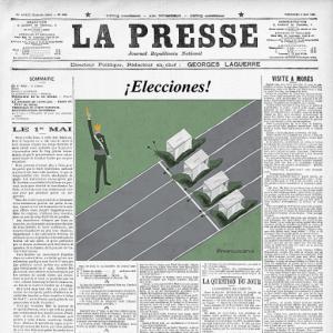 Metáforas visuales para noticias de actualidad, de opinión y artículos periodísticos ilustration visual information información
