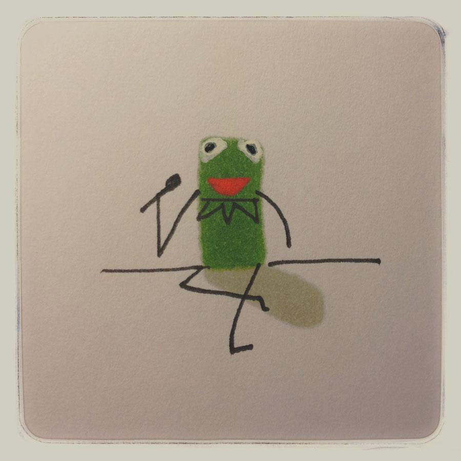 pixel movies 8bit cine película adivina guess film marcuscarus Kermit frog Henson puppet
