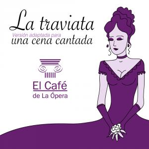 cafe ópera cena cantada violeta menu restaurante traviata verdi Giuseppe cartel rollup flyer