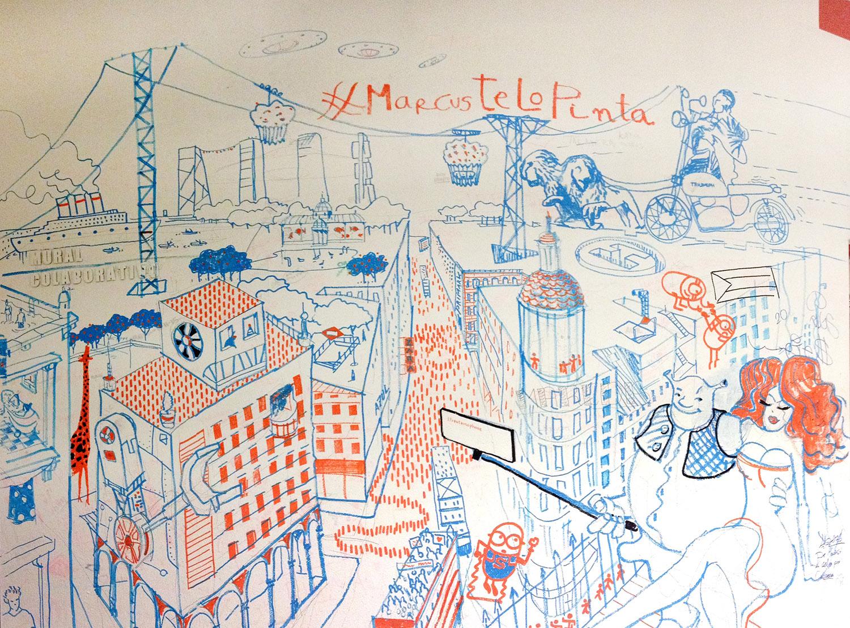 centrocentro #marcustelopinta mural social gran vía fantasía utopia madrid