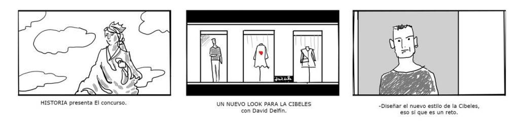 storyboard cine publicidad spot commercial shooting dibujo viñeta artwork cibeles historia canal