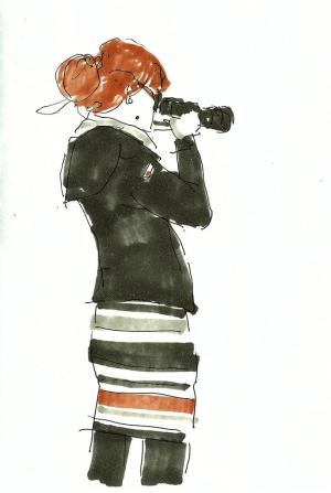 camera picture girl dibujo drawing sketchbook Paula photo