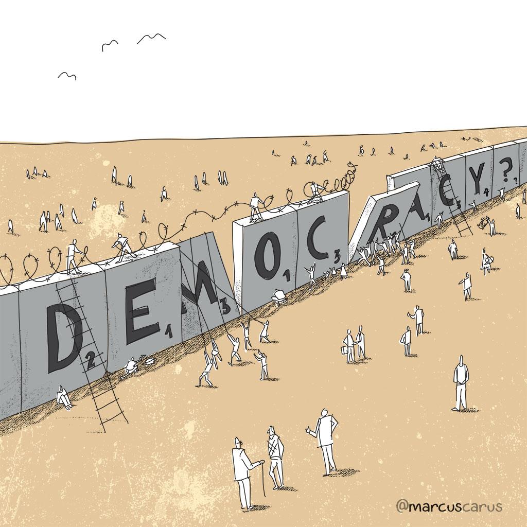 democracia democracy referendum brexit britain europe wall muro barrera barrier