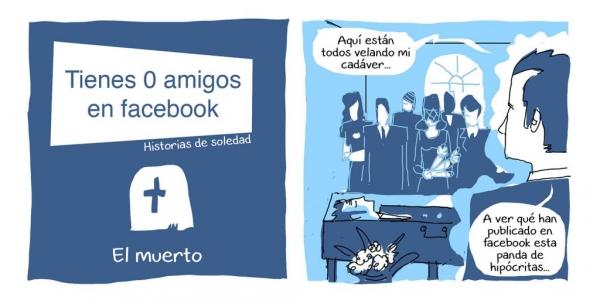 comic amigos facebook redes sociales historias soledad muerto cadáver