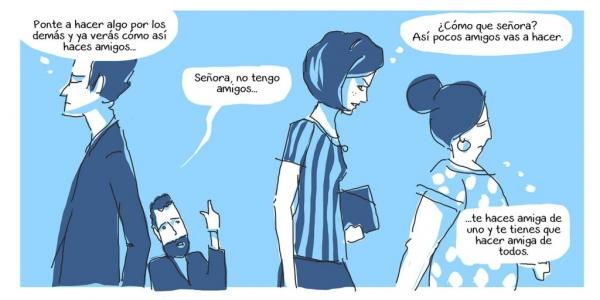 comic amigos facebook redes sociales historias soledad pobre limosna likes