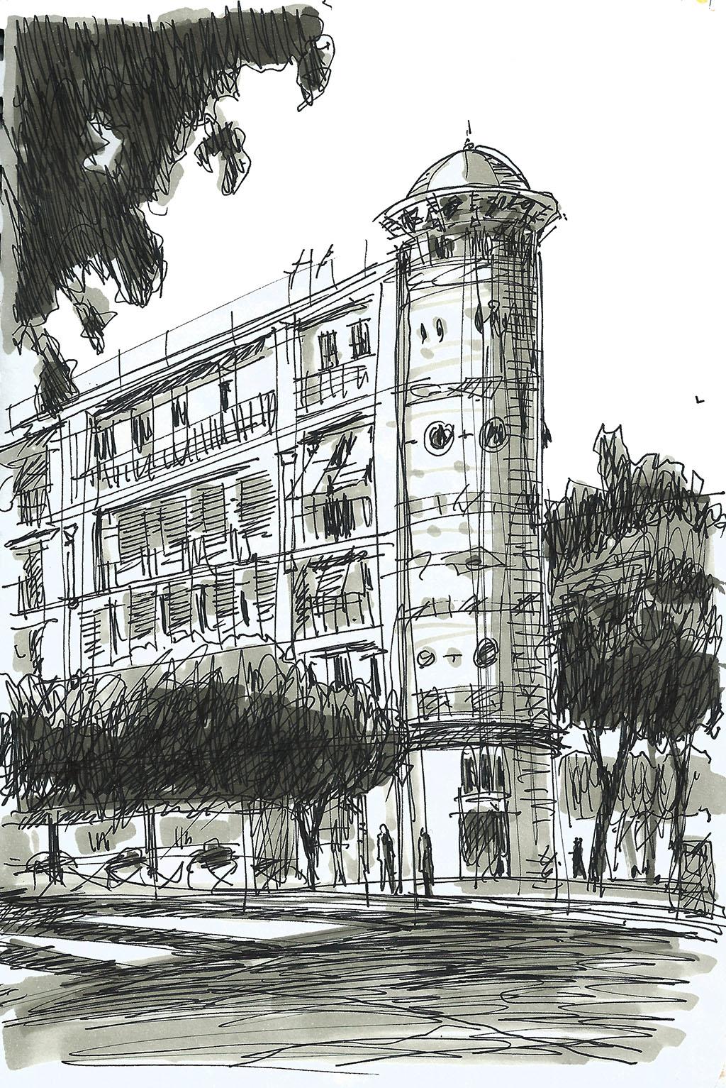 sketchbook dibujo alcalá madrid urbano