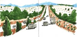 sketchbook dibujo carretera castilla rápido road