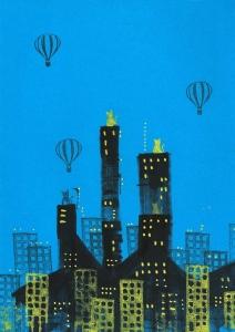 sketchbook dibujo stamp sello gatos rascacielos skycrapper globo globe