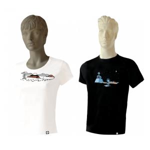 camino santiago estrellas peregrino España Galicia wear2play camisetas vivas peregrin