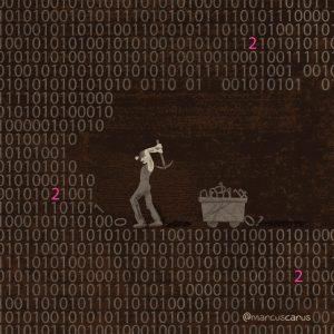 minero binario binary data picar código code metáfora metaphore bitcoin