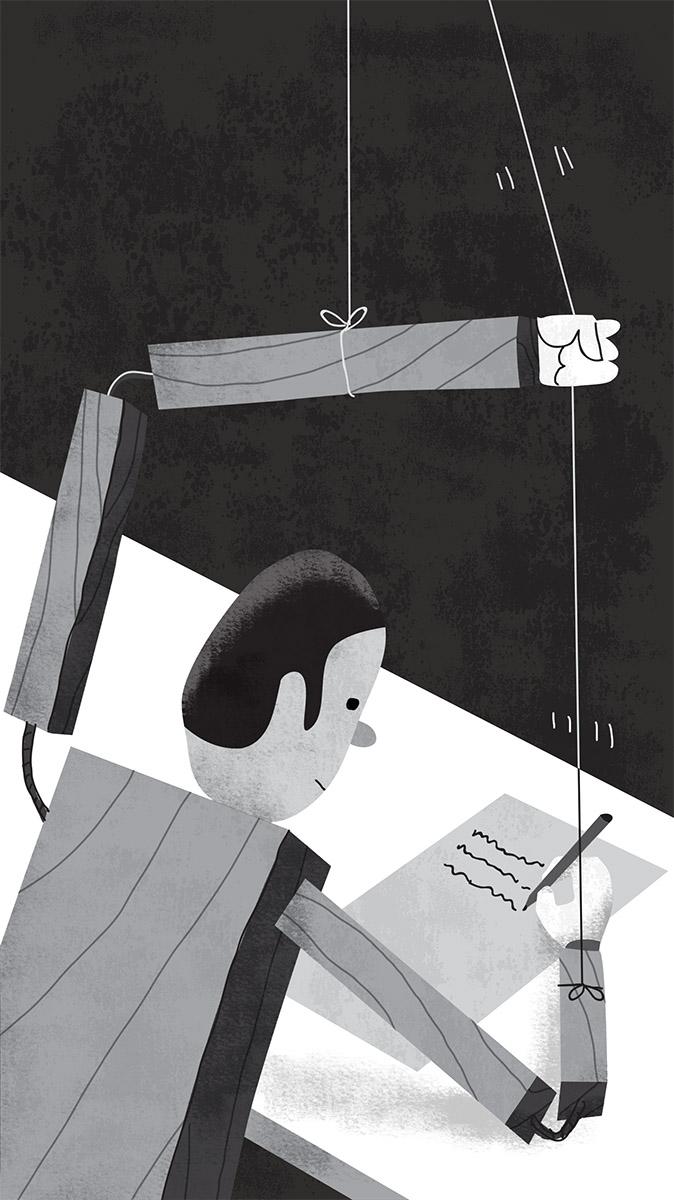 zoom jose antonio Marina ilustración illustration editorial marcuscarus filosofia metáfora metaphore pinocho subconsciente