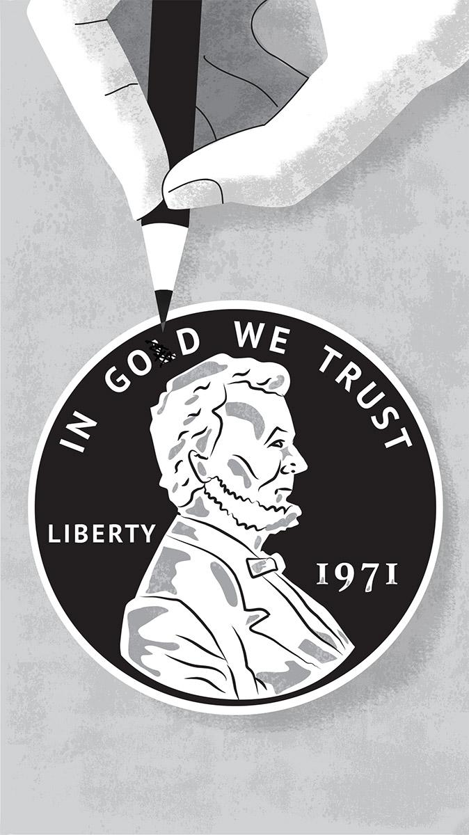 zoom jose antonio Marina ilustración illustration editorial marcuscarus filosofia lincon dinero ficción god gold